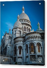 Sacre-coeur At Night Acrylic Print by Inge Johnsson