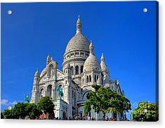 Sacre Coeur Basilica Acrylic Print by Olivier Le Queinec