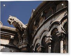 Sacre Coeur Gargoyle Acrylic Print by Art Ferrier