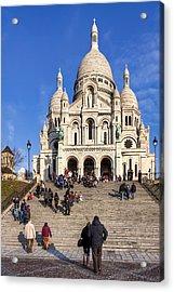 Sacre Coeur - Parisian Landmark Acrylic Print by Mark E Tisdale