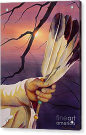 Sacred Feathers Acrylic Print by Robert Hooper