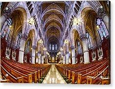 Sacred Heart Basilica Acrylic Print by Jerry Fornarotto