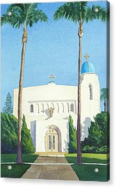 Sacred Heart Church Coronado Acrylic Print by Mary Helmreich