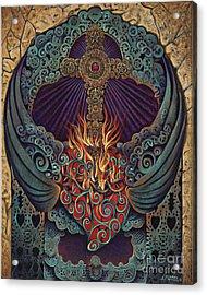 Sacred Heart Acrylic Print by Ricardo Chavez-Mendez
