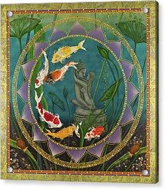 Sacred Pond Acrylic Print by Nadean OBrien