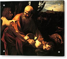 Sacrifice Of Issac Acrylic Print by Caravaggio