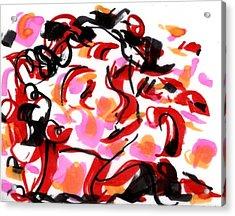 Sad Clowns IIi Acrylic Print by Rachel Scott