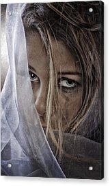 Sad Girl Acrylic Print by Erik Brede