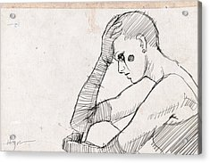 Sad Acrylic Print by H James Hoff