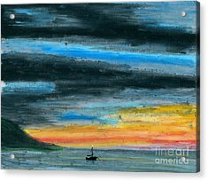 Safe At Harbor Acrylic Print by R Kyllo