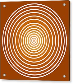 Saffron Colored Abstract Circles Acrylic Print by Frank Tschakert