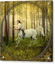 Sagittarius Acrylic Print by Linda Lees