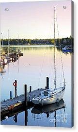 Sailboat At Sunrise Acrylic Print by Elena Elisseeva