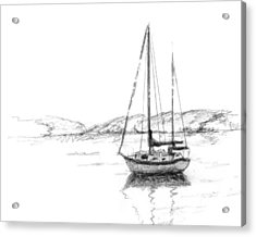 Sailboat Acrylic Print by Sarah Parks