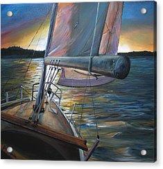 Smooth Sailing Acrylic Print by Stefan Kaertner