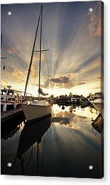 Sailed In Acrylic Print by Alexey Stiop