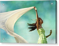 Sailing A Favorable Wind Acrylic Print by Laura Fasulo