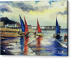 Sailing At Penarth Acrylic Print by Andrew Read