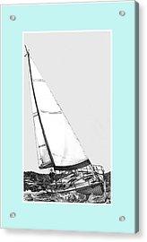 Sailing Blue Acrylic Print by Jack Pumphrey