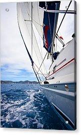 Sailing Bvi Acrylic Print by Adam Romanowicz