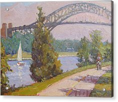 Sailing Cape Cod Canal Acrylic Print by Dianne Panarelli Miller