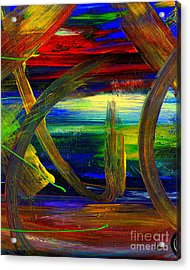 Sailing In Calmness Over A Troubled Sea Acrylic Print by Angela L Walker