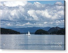 Sailing In The San Juans Acrylic Print by Carol Groenen