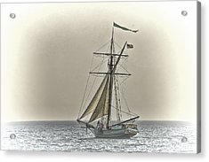 Sailing Off Acrylic Print by Jack R Perry