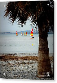 Sailing On A Cloudy Morning Acrylic Print by Lainie Wrightson