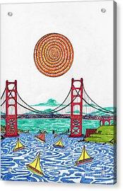 Sailing On San Francisco Bay Acrylic Print by Michael Friend
