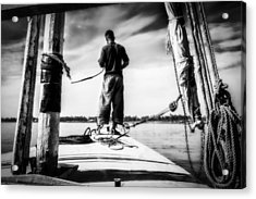 Sailing On The Nile Acrylic Print by Erik Brede