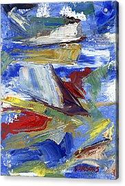 Sailing Acrylic Print by Pamela Parsons
