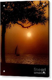 Sailing Sunset Acrylic Print by Michael Hoard