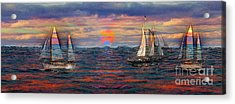 Sailing While Dreaming Acrylic Print by Jeff Breiman