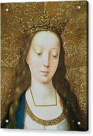 Saint Catherine Acrylic Print by Goossen van der Weyden