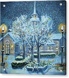 Saint Dominic Chapel Providence College Acrylic Print by Rita Brown