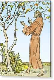 Saint Francis Of Assisi Acrylic Print by Hellmut Eichrodt