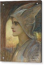 Saint Joan Of Arc Acrylic Print by Sir William Blake Richomond