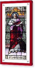Saint John The Evangelist Stained Glass Window Acrylic Print by Rose Santuci-Sofranko