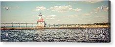 Saint Joseph Lighthouse Retro Panorama Photo Acrylic Print by Paul Velgos