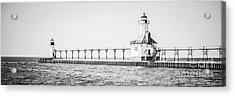 Saint Joseph Michigan Lighthouse Panoramic Photo Acrylic Print by Paul Velgos
