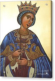 Saint Kateryna Icon Acrylic Print by Kateryna Kurylo