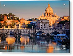 Saint Peters Basilica Acrylic Print by Inge Johnsson