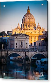 Saint Peter's Dawn Acrylic Print by Inge Johnsson