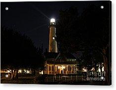 Saint Simons Lighthouse Acrylic Print by Leslie Kirk
