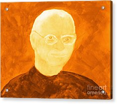 Saint Steven Paul Jobs 3 Acrylic Print by Richard W Linford