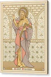 Saint Thomas Acrylic Print by English School