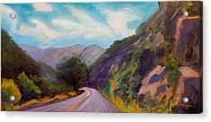 Saint Vrain Canyon Acrylic Print by Athena  Mantle