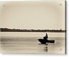 Saintlucieboating Acrylic Print by Patrick M Lynch