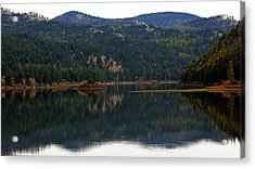 Salam  Lake Acrylic Print by Larry Stolle